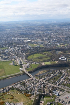 Aerial photography Scotland Aberdeen Bridge of Don